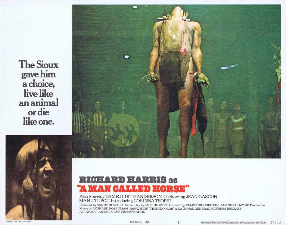 A MAN CALLED HORSE Lobby Card 5 Richard Harris