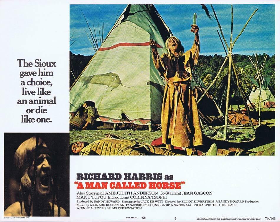 A MAN CALLED HORSE Lobby Card 6 Richard Harris