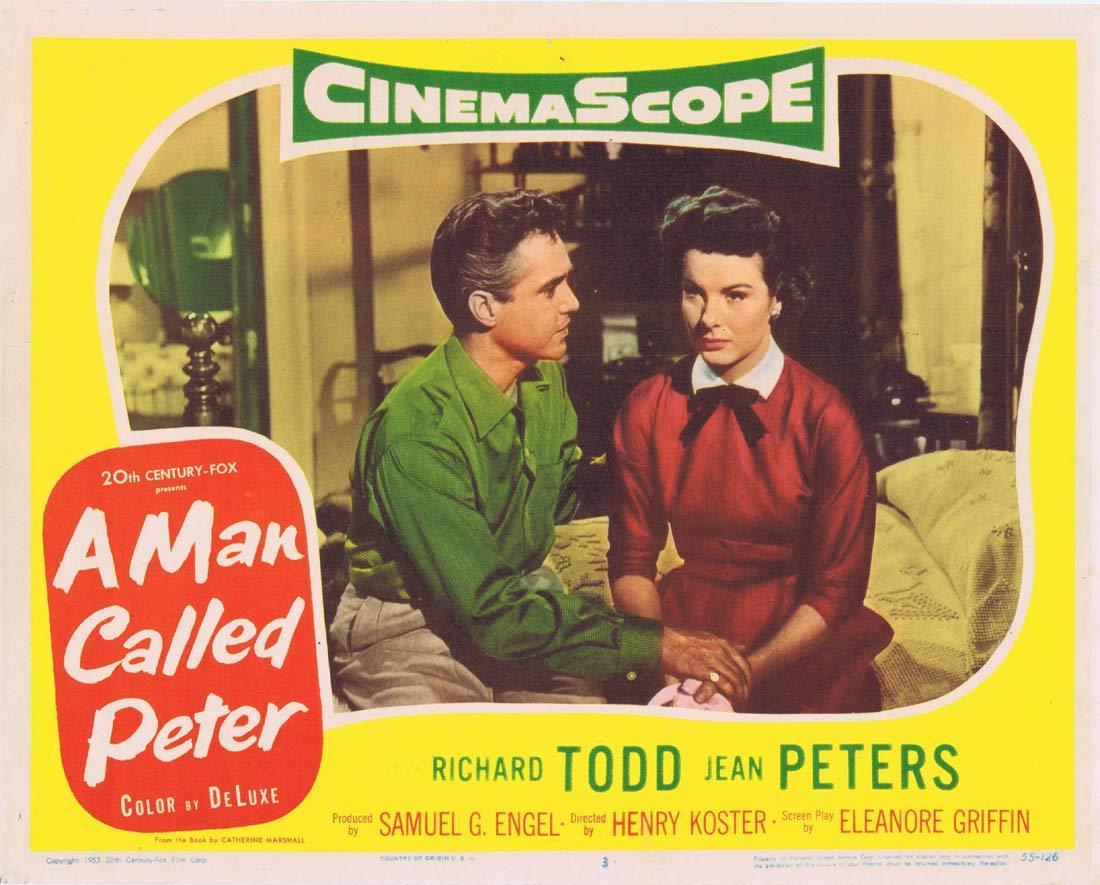 A MAN CALLED PETER Original Lobby Card 3 Richard Todd Jean Peters