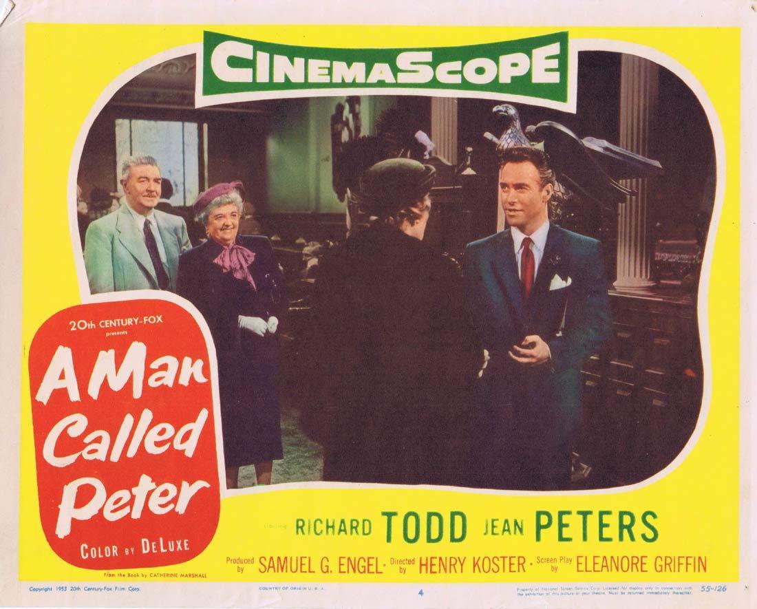 A MAN CALLED PETER Original Lobby Card 4 Richard Todd Jean Peters