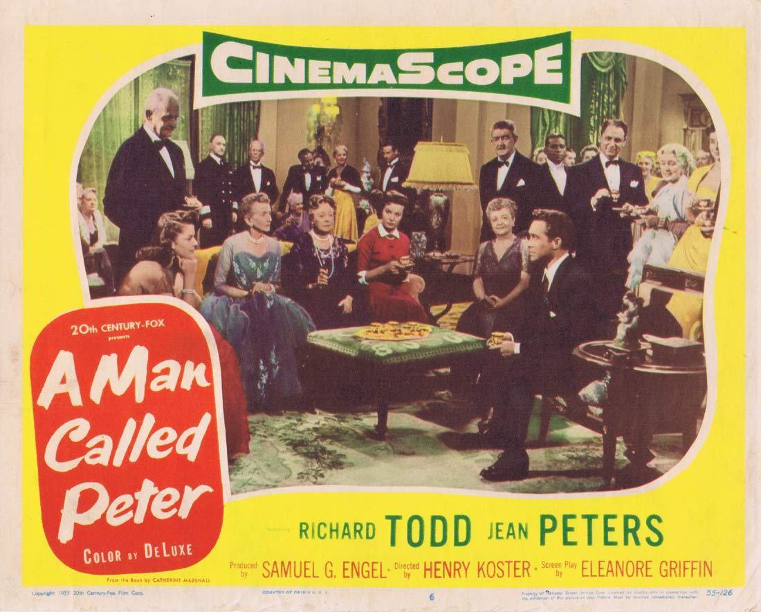 A MAN CALLED PETER Original Lobby Card 6 Richard Todd Jean Peters