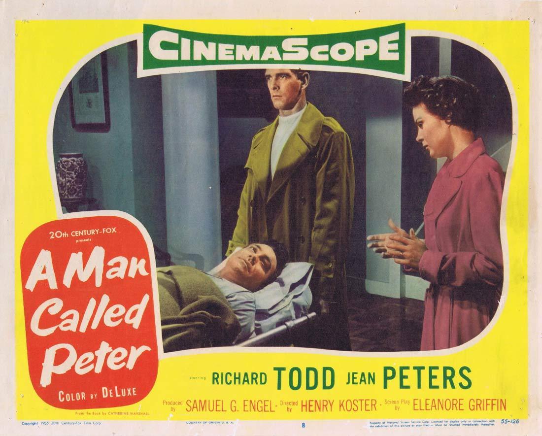 A MAN CALLED PETER Original Lobby Card 8 Richard Todd Jean Peters