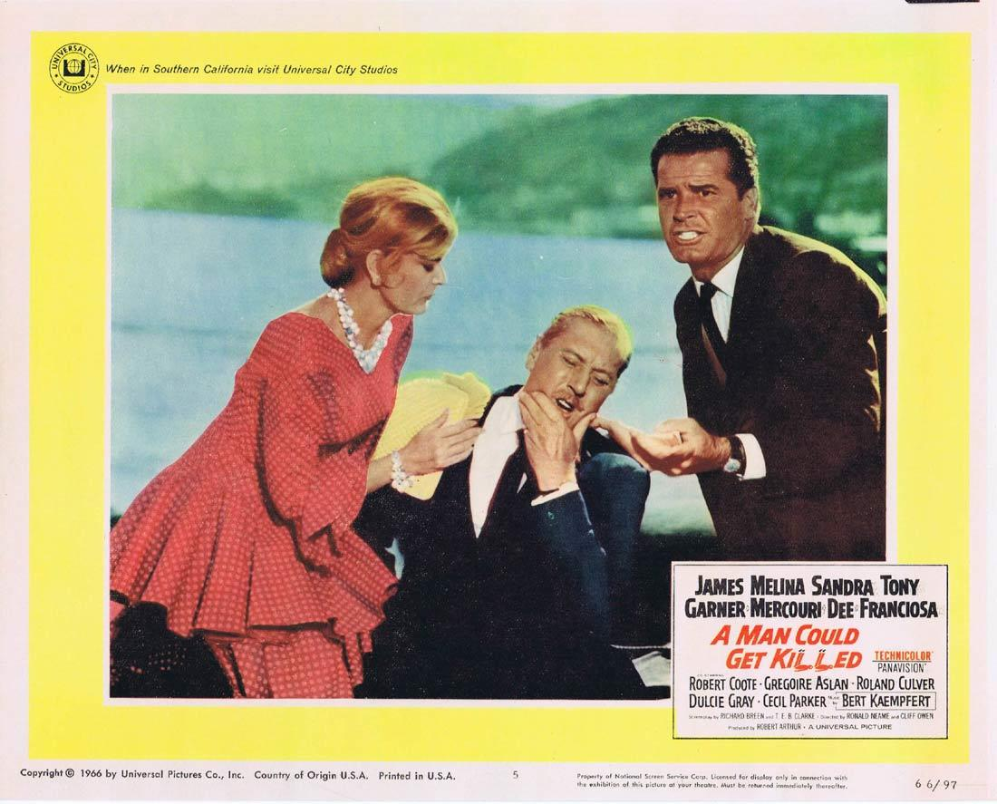 A MAN COULD GET KILLED Lobby Card 5 James Garner Melina Mercouri Sandra Dee