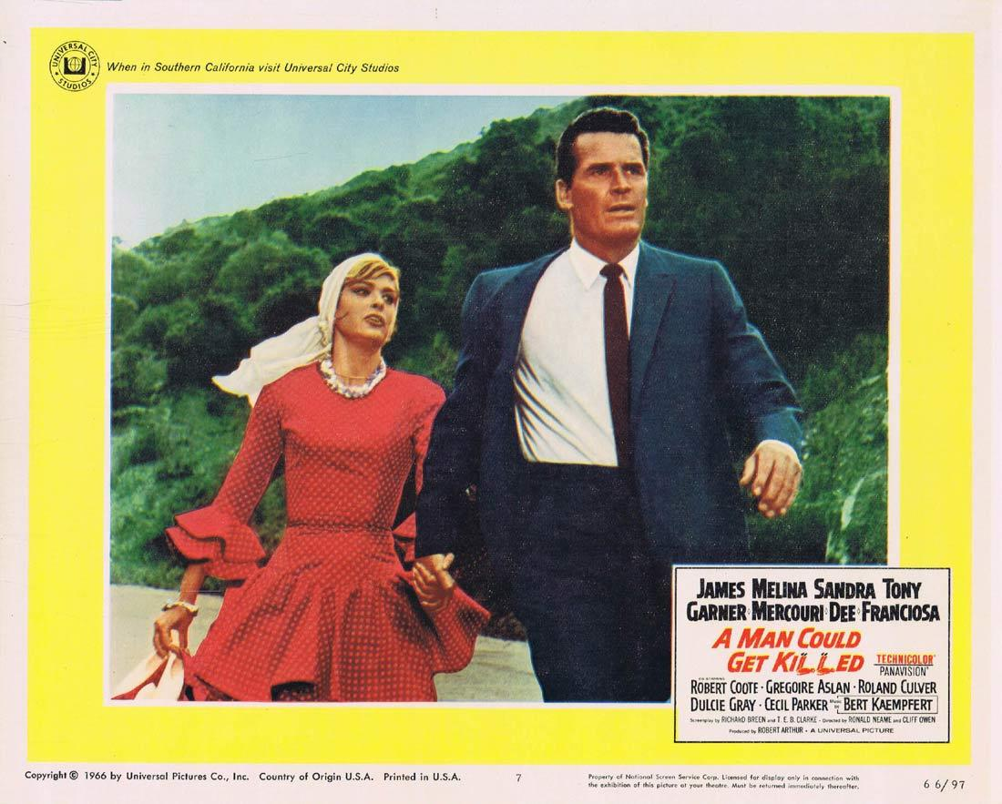 A MAN COULD GET KILLED Lobby Card 7 James Garner Melina Mercouri Sandra Dee
