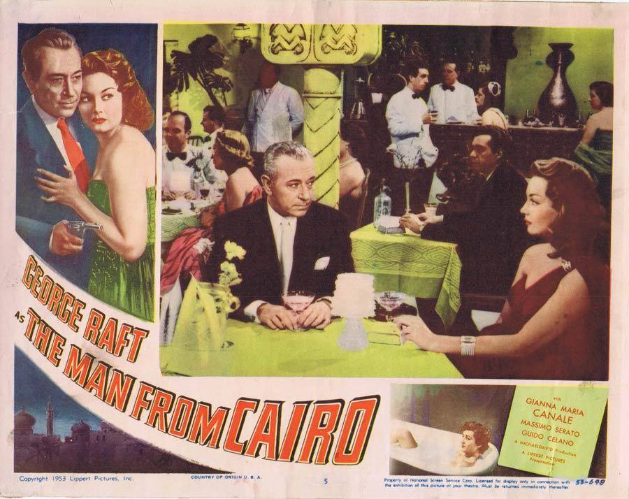 THE MAN FROM CAIRO Lobby card 5 George Raft