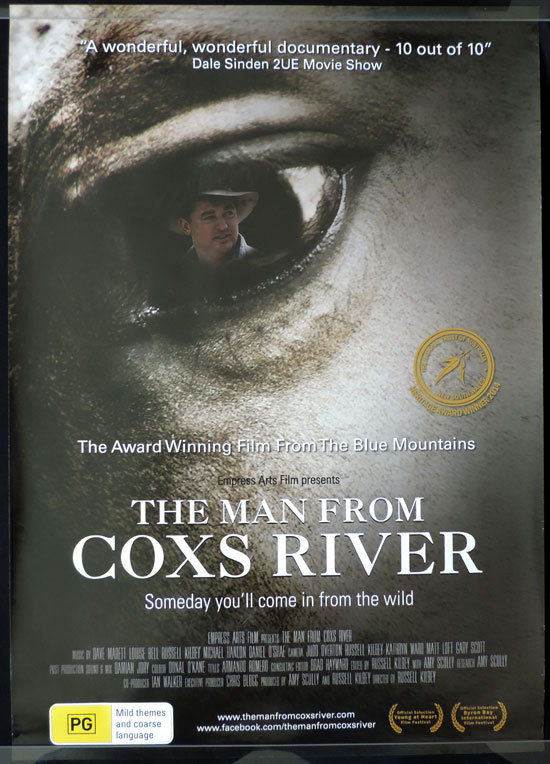 "MAN FROM COXS RIVER Movie poster 1983 Steve Bisley Australian Cinema One sheet ""B"""