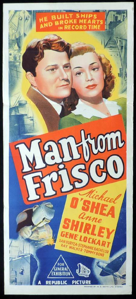 MAN FROM FRISCO Original Daybill Movie Poster Michael O'Shea