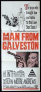 THE MAN FROM GALVESTON Original Daybill Movie PosterJeffrey Hunter Preston Foster James Coburn