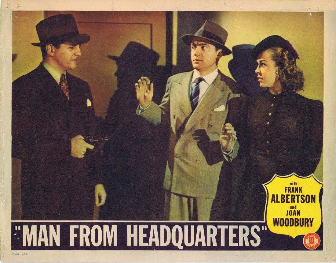 MAN FROM HEADQUARTERS Vintage Lobby Card 2 Frank Albertson Joan Woodbury