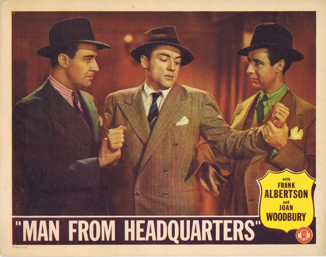 MAN FROM HEADQUARTERS Vintage Lobby Card 3 Frank Albertson Joan Woodbury