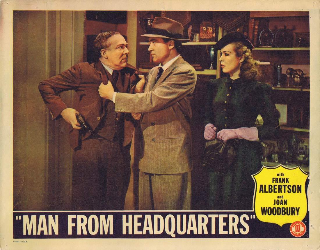 MAN FROM HEADQUARTERS Vintage Lobby Card 4 Frank Albertson Joan Woodbury