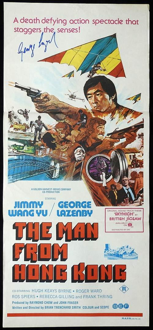 THE MAN FROM HONG KONG Original Daybill Movie poster GEORGE LAZENBY Autographed
