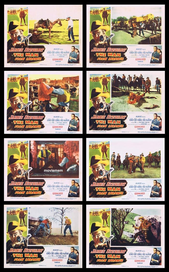 THE MAN FROM LARAMIE Vintage Lobby Card Set JAMES STEWART