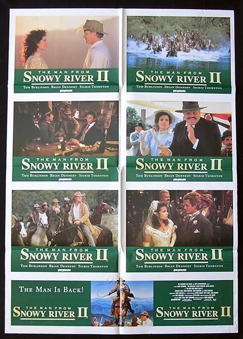 MAN FROM SNOWY RIVER II '88-Burlinson ORIGINAL Photo sheet poster