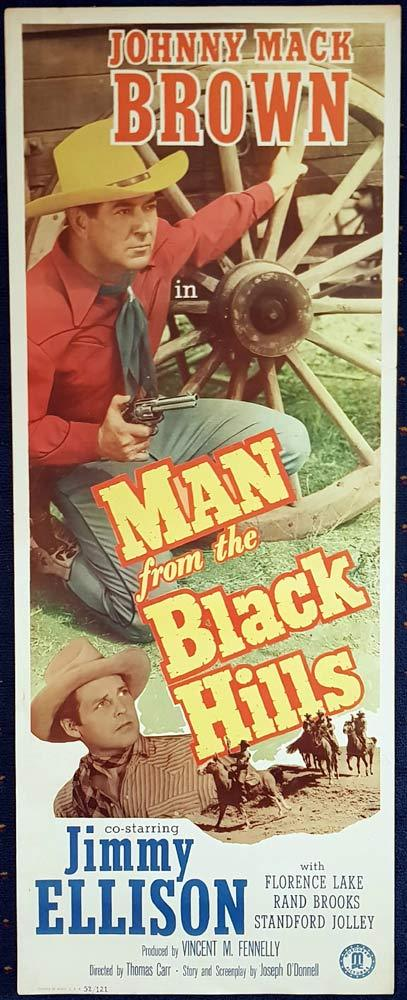 MAN FROM BLACK HILLS Movie Poster Johnny Mack Brown Jimmy Ellison US Insert