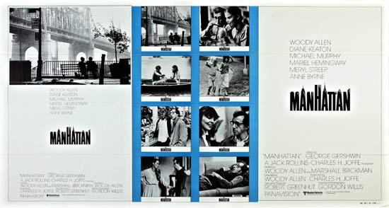 MANHATTAN 1979 Woody Allen Rare One Stop Movie Poster