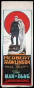 THE MAN IN BLUE Long Daybill Movie poster 1925 Herbert Rawlinson