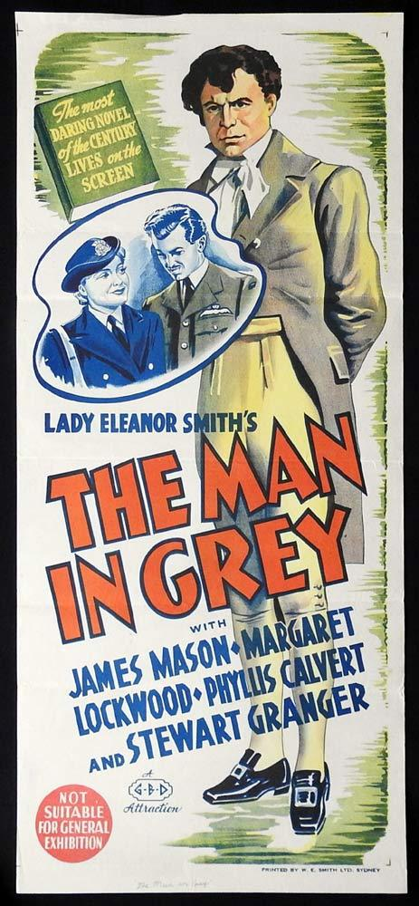 THE MAN IN GREY Original Daybill Movie poster Margaret Lockwood James Mason
