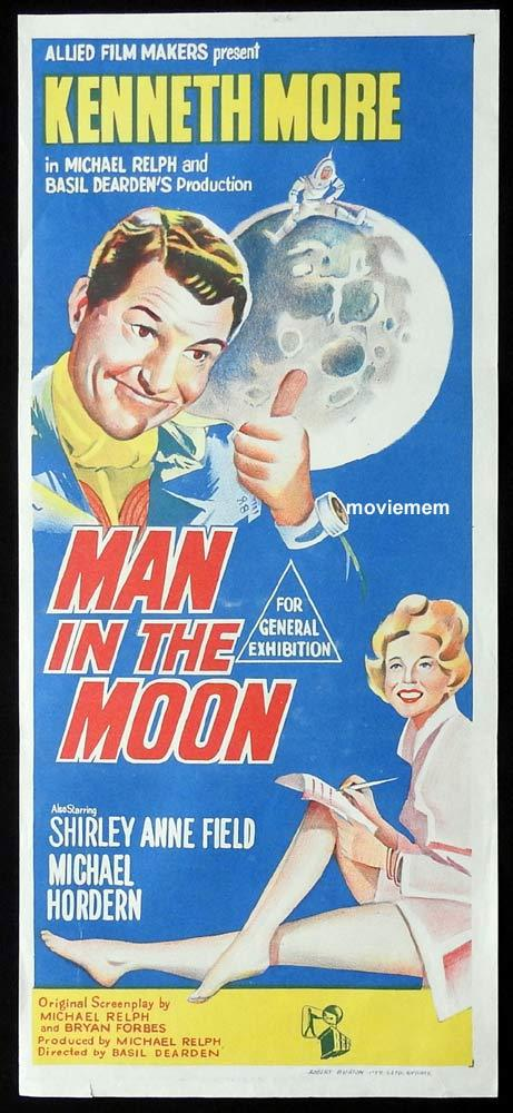 MAN IN THE MOON Original Daybill Movie Poster Kenneth More Shirley Anne Field