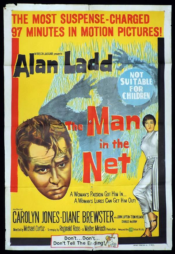 MAN IN THE NET One Sheet Movie Poster Alan Ladd