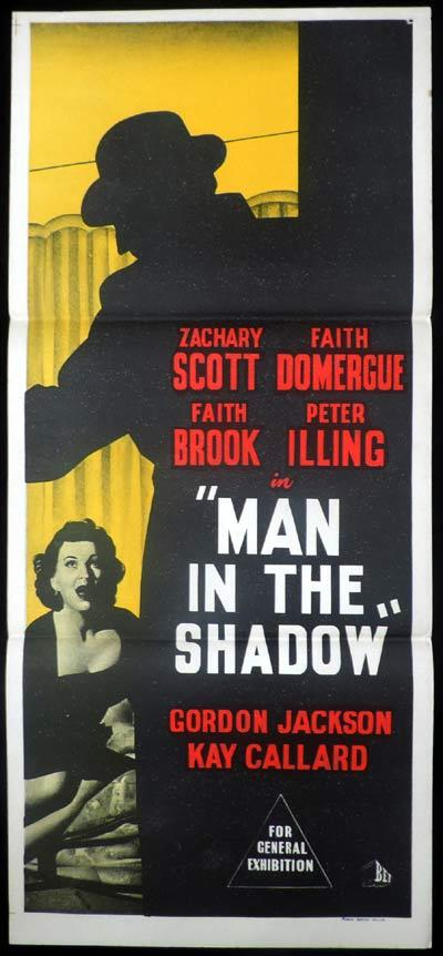 MAN IN THE SHADOW Daybill Movie poster Zachary Scott Film Noir