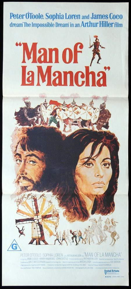 MAN OF LA MANCHA 1972 Sophia Loren Daybill Movie poster