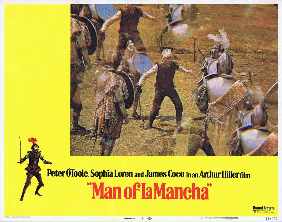 MAN OF LA MANCHA Lobby Card 1 Peter O'Toole Sophia Loren James Coco