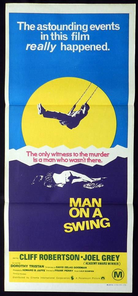 MAN ON A SWING Original Daybill Movie poster Cliff Robertson