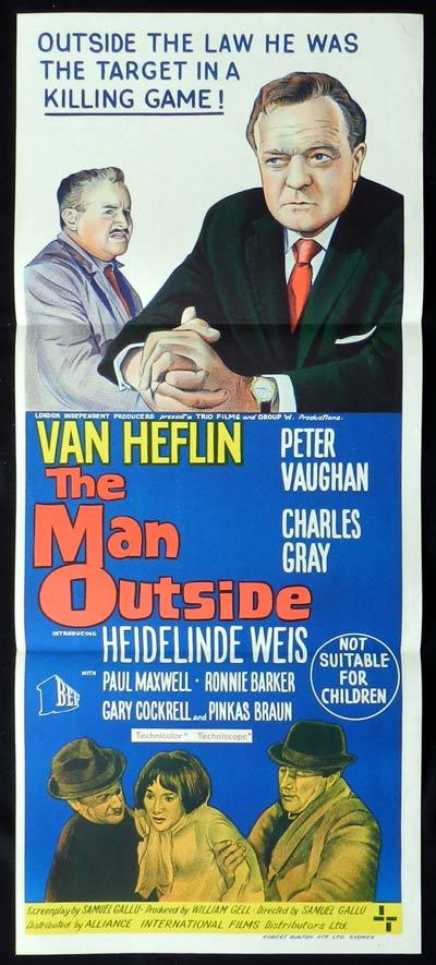THE MAN OUTSIDE Original Daybill Movie Poster Van Heflin