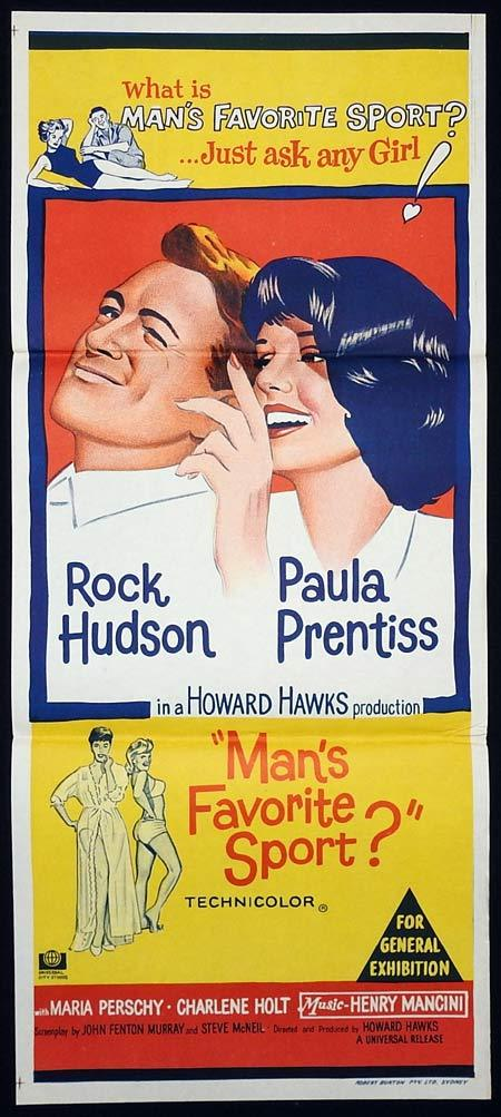 MANS FAVOURITE SPORT Original Daybill Movie poster