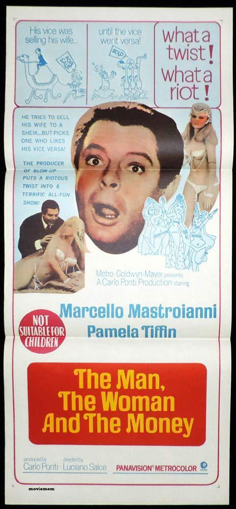 THE MAN THE WOMAN AND THE MONEY Daybill Movie poster Marcello Mastroianni