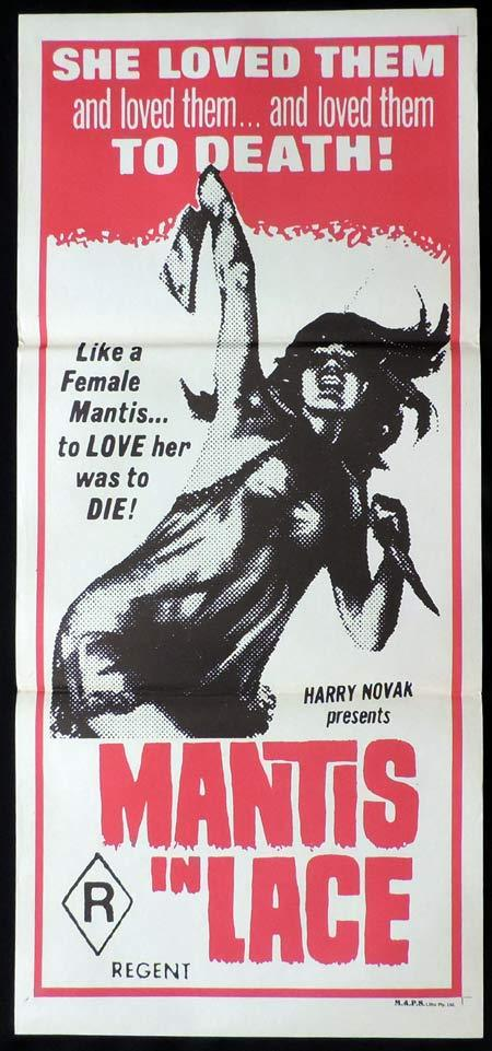 MANTIS IN LACE Original daybill Movie poster SEXPLOITATION Lila Horror