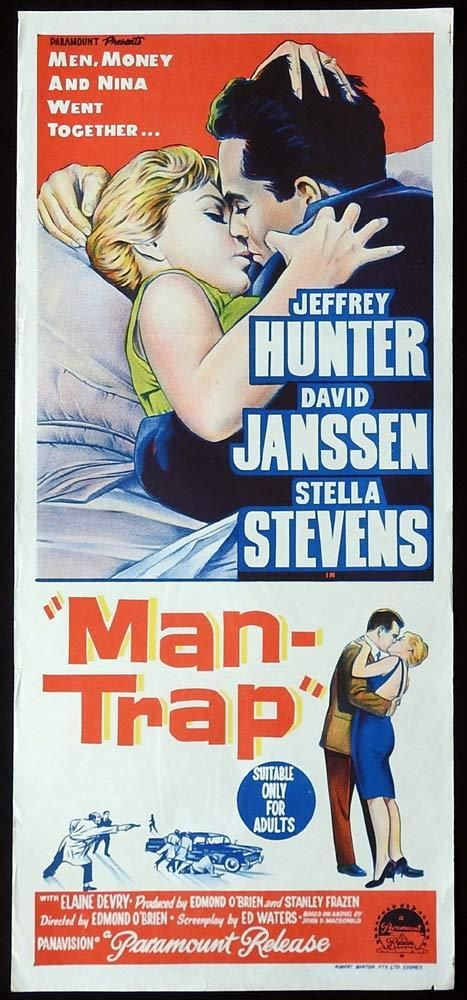 MAN TRAP Original Daybill Movie Poster Jeffrey Hunter David Janssen