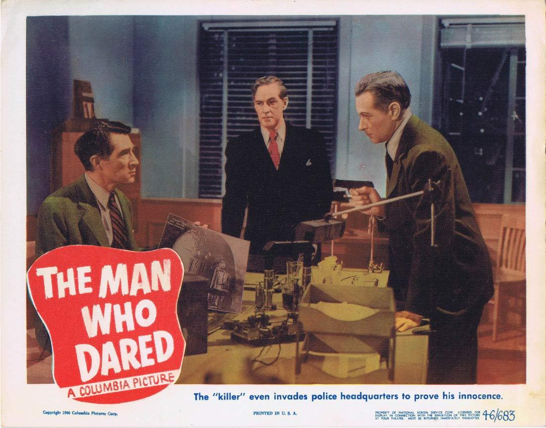 THE MAN WHO DARED Lobby card 2 Forrest Tucker FIlm Noir