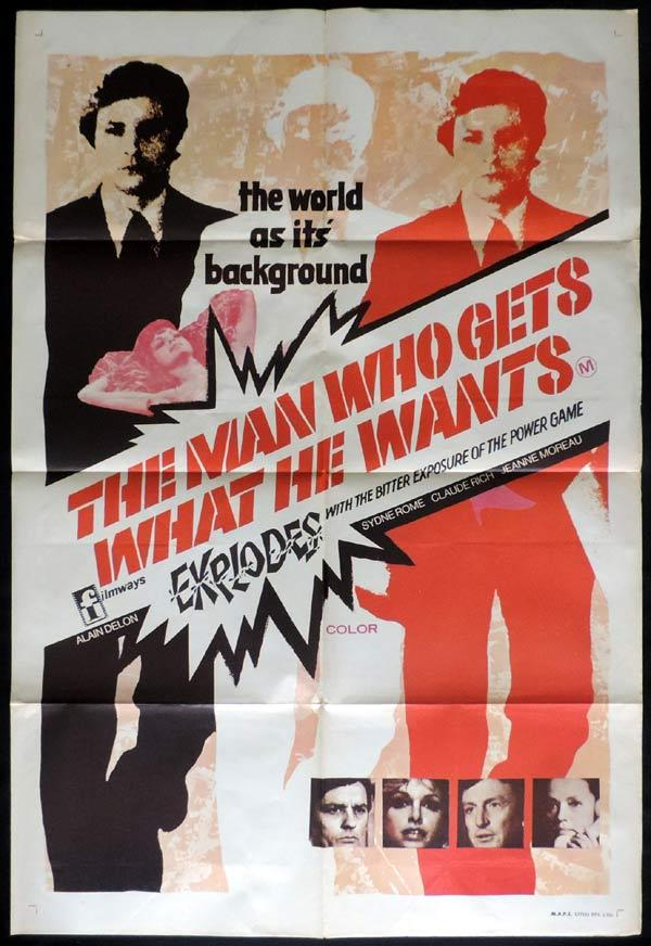 THE MAN WHO GETS WHAT HE WANTS aka ELITE GROUP One Sheet Movie Poster Alain Delon