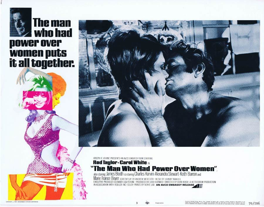 THE MAN WHO HAD POWER OVER WOMEN Lobby Card 3 Rod Taylor