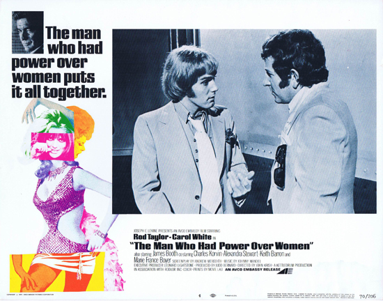 THE MAN WHO HAD POWER OVER WOMEN Lobby Card 4 Rod Taylor