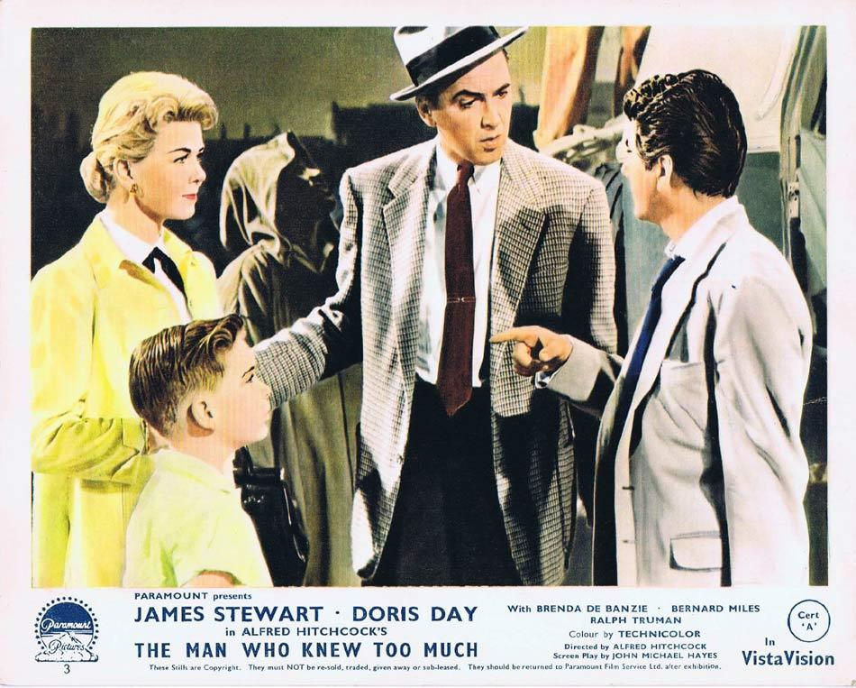 THE MAN WHO KNEW TOO MUCH Front of House Movie Still 5 James Stewart