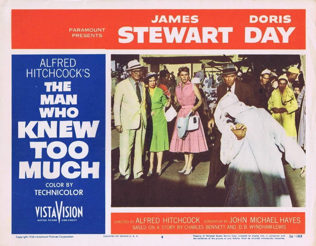 THE MAN WHO KNEW TOO MUCH Original Lobby Card 4 James Stewart Doris Day