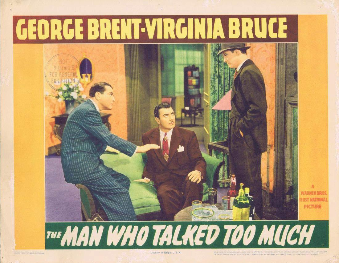 THE MAN WHO TALKED TOO MUCH Lobby Card 3 George Brent Virginia Bruce Brenda Marshall