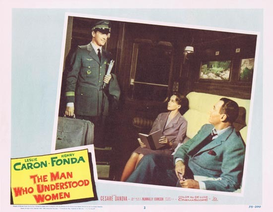MAN WHO UNDERSTOOD WOMEN Lobby Card 2 Leslie Caron Henry Fonda 1959