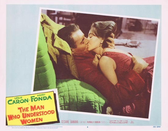 MAN WHO UNDERSTOOD WOMEN Lobby Card 4 Leslie Caron Henry Fonda 1959