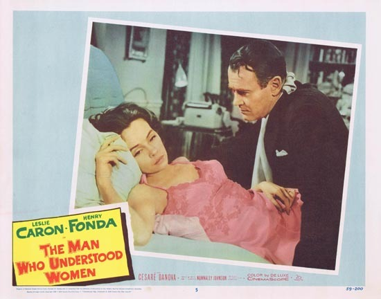 MAN WHO UNDERSTOOD WOMEN Lobby Card 5 Leslie Caron Henry Fonda 1959