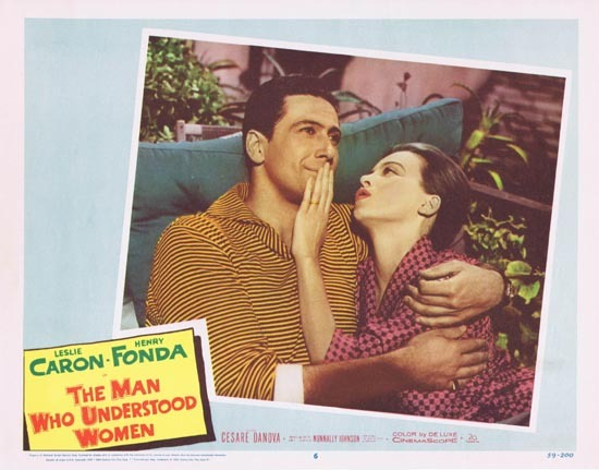 MAN WHO UNDERSTOOD WOMEN Lobby Card 6 Leslie Caron Henry Fonda 1959