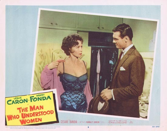 MAN WHO UNDERSTOOD WOMEN Lobby Card 8 Leslie Caron Henry Fonda 1959
