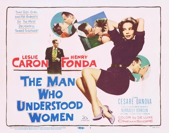 MAN WHO UNDERSTOOD WOMEN Title Lobby Card Leslie Caron Henry Fonda 1959