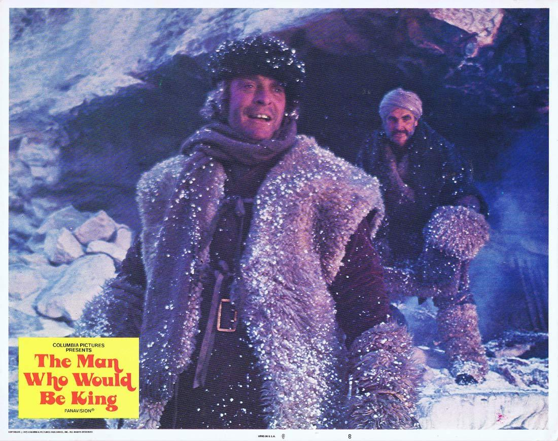 THE MAN WHO WOULD BE KING Original Lobby Card 8 Sean Connery Michael Caine