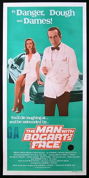 THE MAN WITH BOGARTS FACE 1980 Original Daybill Movie poster