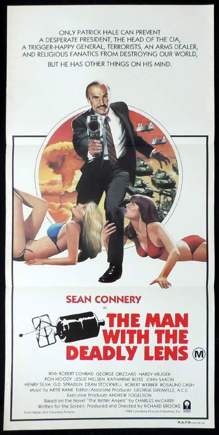 MAN WITH THE DEADLY LENS Original Daybill Movie Poster Sean Connery