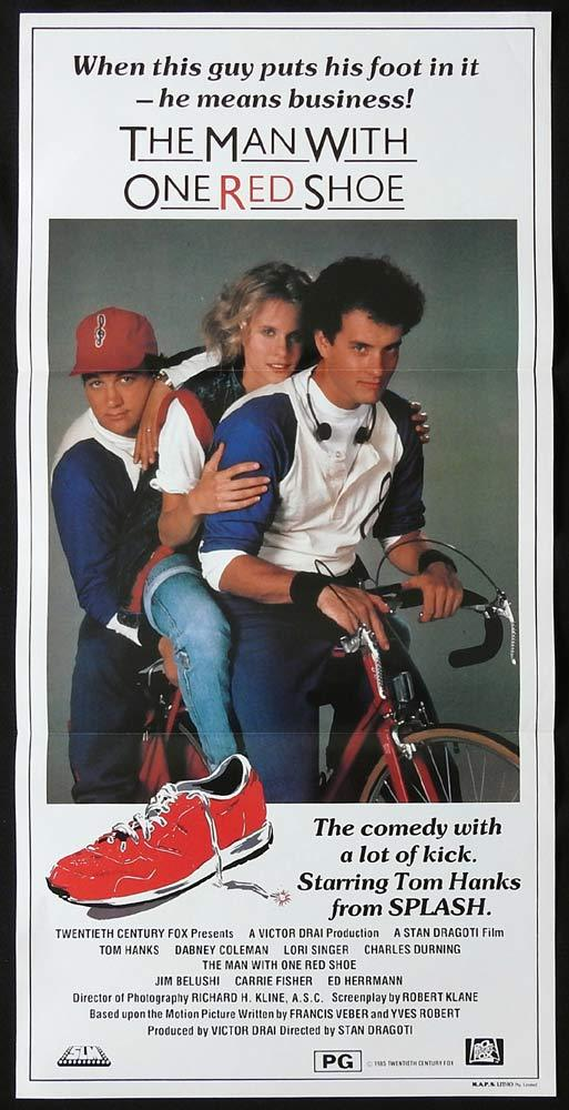 THE MAN WITH ONE RED SHOE Original Daybill Movie poster Tom Hanks Lori Singer